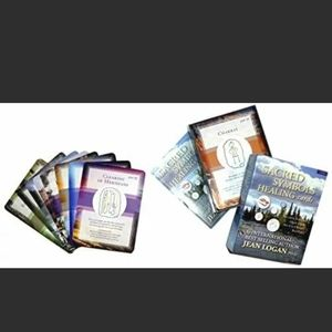 New Sacred symbols healing cards by Jean Logan
